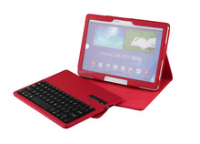 Stylish protective PU leather case Bluetooth keyboard designed for Samsung Galaxy 10.1inch P600/T520-SA106