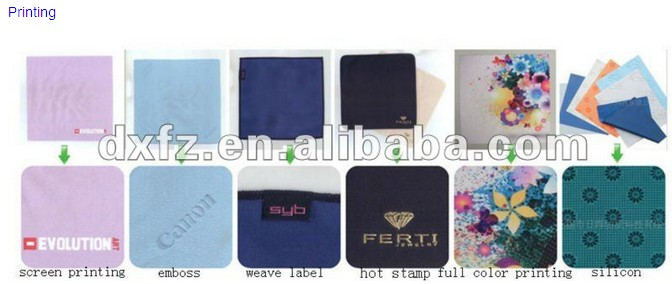 100% Eco-friendly microfiber glasses cleaning cloth