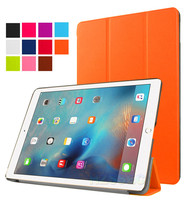 Slim luxury ultra thin PU leather orange tablet case stand flip case for iPad Pro 9.7