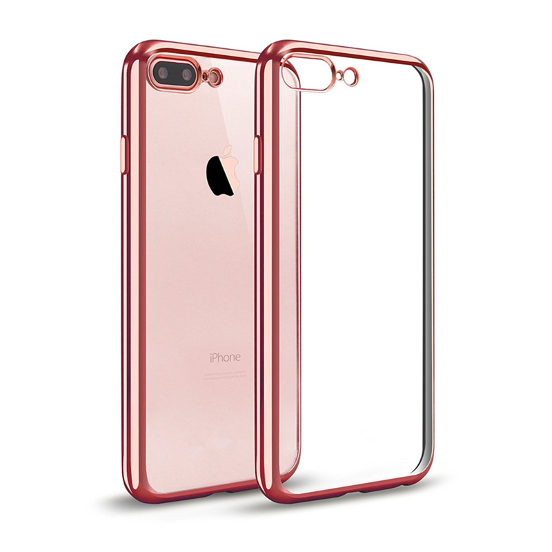for iPhone 6s Plus Case, Electroplating TPU Ultra Slim Crystal Clear Back Cover