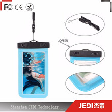 Transparent pouch bag PVC waterproof cell phone bag support touch screen_HL4143