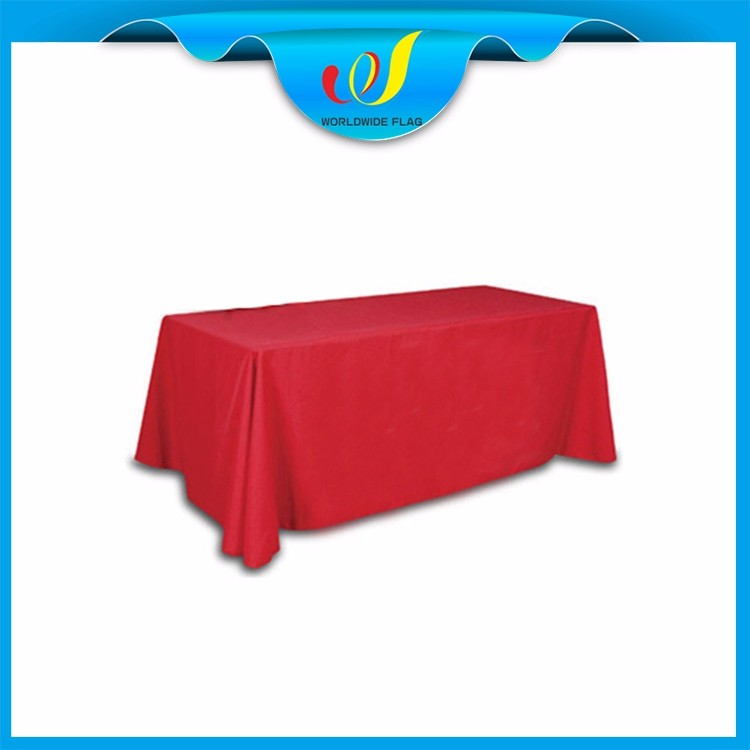China Trade Show Advertise Event Promotion Print Square Shape Table Cloth