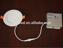 Dimmable slim design 4'' 9W ETL led panel light surface with driver in a junction box IC rated airtight