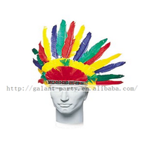 factory wholesale handmade colorful indian feather headgear or headband for festival masquerade