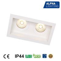 commercial and residential lighting double head 10w light fixture