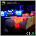 Waterproof plastic coffee table Lighting led table Color change cube table