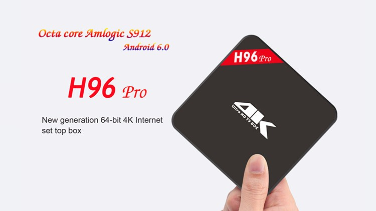H96 Pro Plus Android 6.0 OS Kodi TV Box Amlogic S912 Tv Box Octa-Core 3G/32G IPTV Receiver