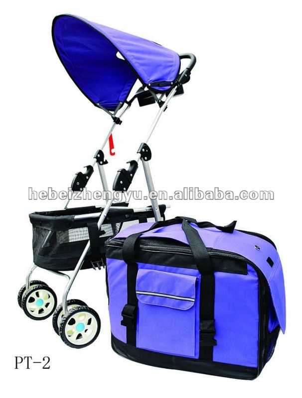 aluminum pet trolley/trolley pet carrier/dog strollers pet trolley