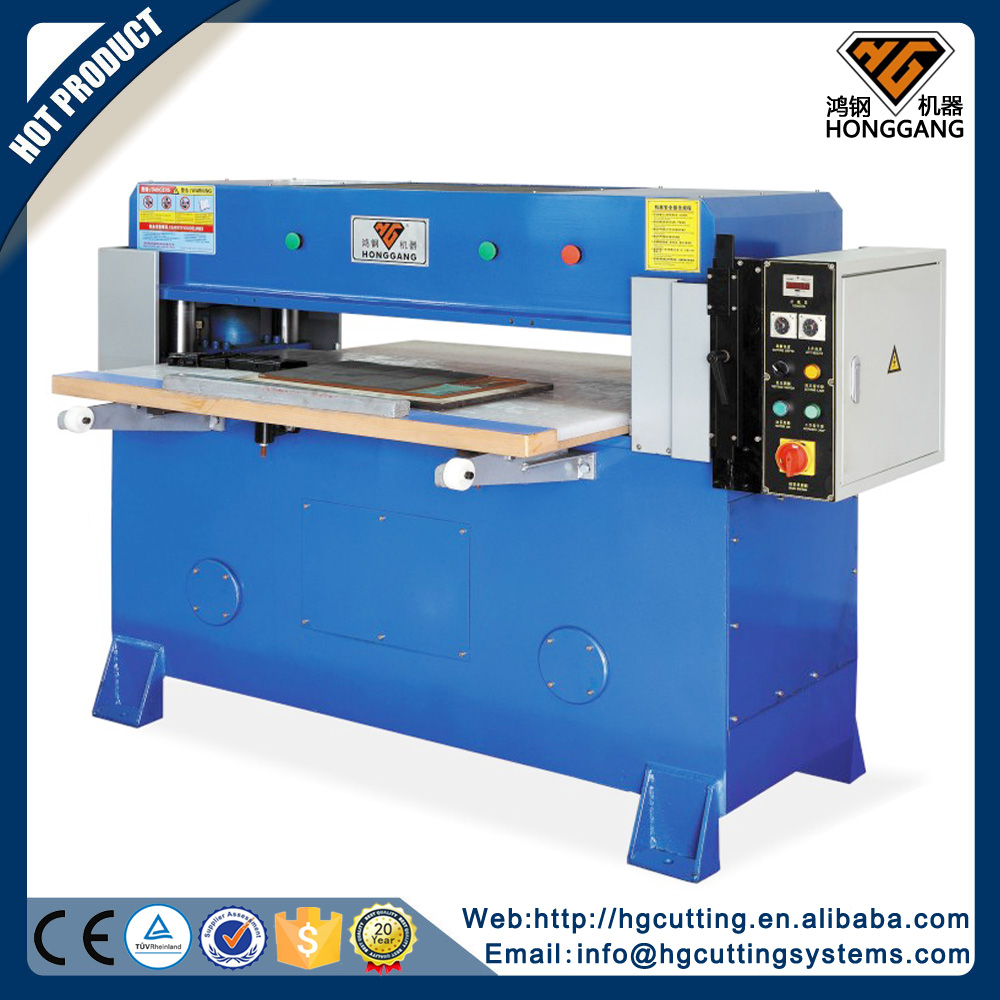 best popular hydraulic fleece fabric press cutting machine