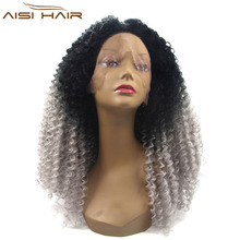 curly lace front bob wigs grey curly afro lace front wig afro hair wigs grey