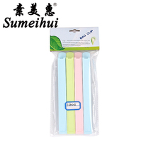 FDA 4 pieces new design long shape plastic trash bag colorful snack bread kitchen sealing plastic food bag clip