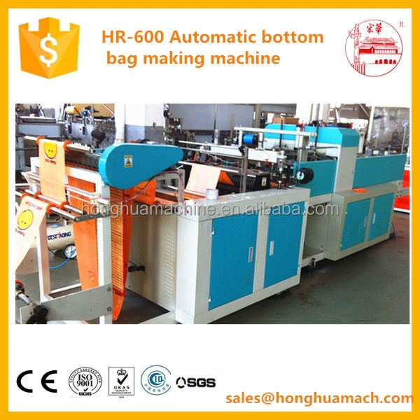 Professional fully automatic hdpe/ldpe plastic carry bag making machine