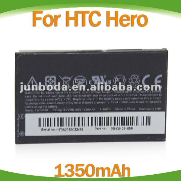 wholesale!!1350mAh cell phone Battery For HTC HERO G3/Tattoo G4