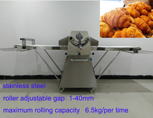 industrial stainless steel bakery euippment bread croissant dough sheeter machine
