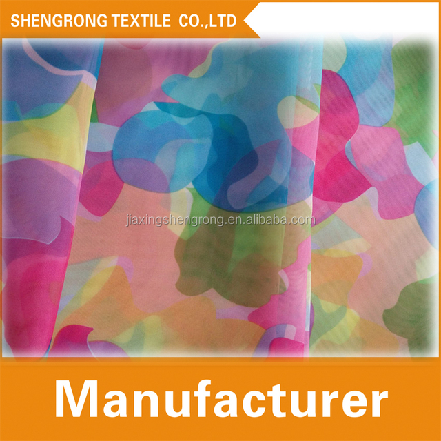 100% polyester printing organza for women dress/Camouflage printed fabrics