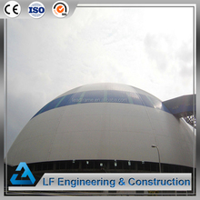 Large span space frame shed steel dome structure