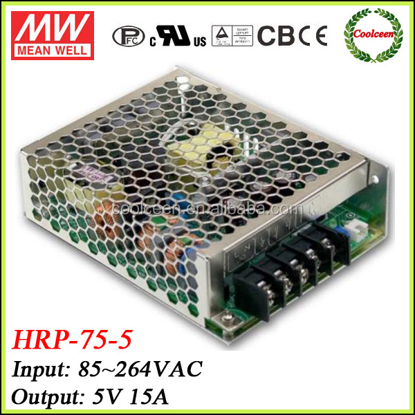 Meanwell 5V 15A CCTV switching power supply HRP-75-5