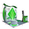 Detian Offer custom exhibit displays trade fair island exhibition booths stand aluminum modular booth