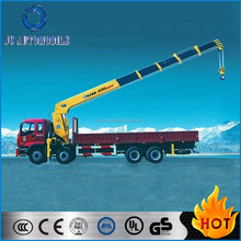 270HP 16Tons 8x4 armored trucks China JAC crane Truck for sale