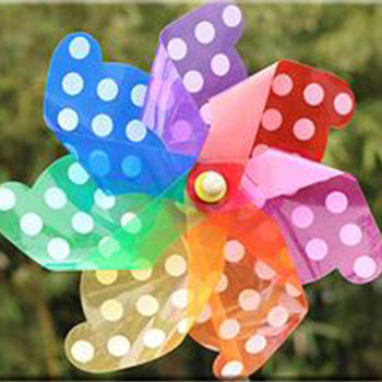 Cheap outdoor garden plastic cheap portable toy kids mini promotion wooden windmill