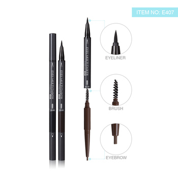 Multi-functional Makeup Pencil Menow E407 Double-ended for Liquid Eyeliner and Eyebrow Gel
