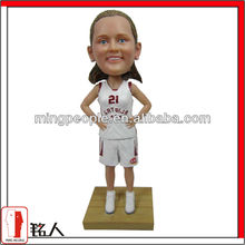 customized sport bobblehead for basketball girl