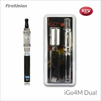 2014 new invention products cheap e-cig mod iGo4M dual flavors clearomizer e cigarette starter kits