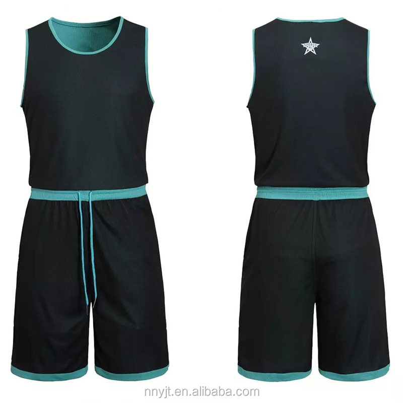 Reversible Special Design Adult Blank Custom Printing Basketball Uniform Jersey and Shorts