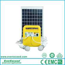 2016 EverExceed shenzhen portable solar power / Solar lighting home solar system with Build-in controller