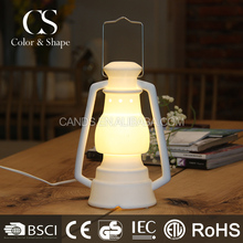 Classic and antique style white ceramic table lamp for sale