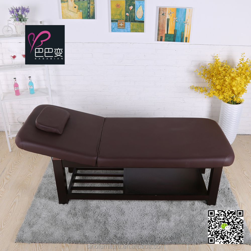 High-end hardwood thai massage bed with high quality