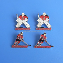 hockey puck metal crafts jersey pins badges