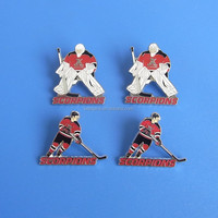 mini hockey puck metal crafts jersey pins badges