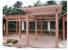 outdoor garden pergola waterproof wood plastic composite wpc pergola