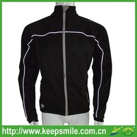 Custom Men's Winter Cycling Apparel for Jacket with Reflective Piping