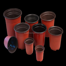 garden double colourc plastic soft fower pots in chinese low price