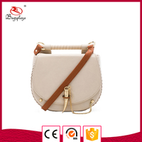 Taiwan buyer's supplier off-white real leather clutch bag lady purse
