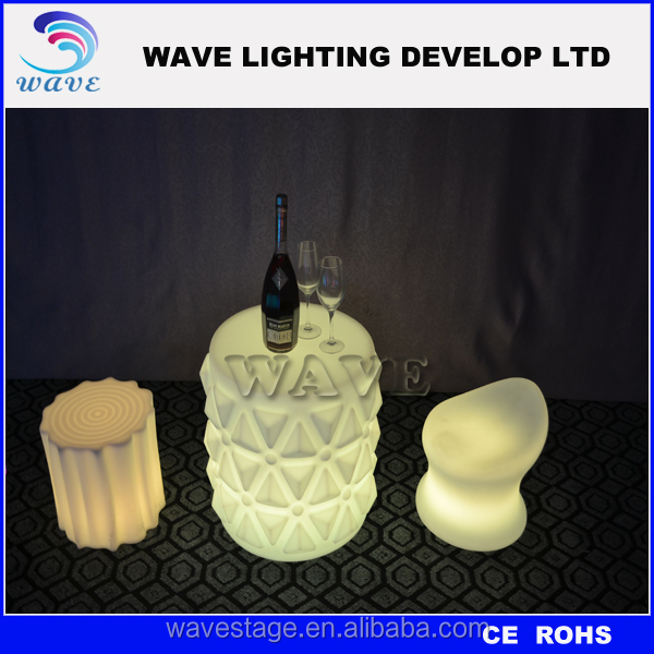 Rechargeable Illuminated led furniture led table led chairs led bar furniture led serving tray