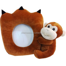 Lovely plush stuffed monkey animal toy baby 3d stuffed toy photo frame
