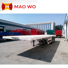China new 3 axle container flatbed semi trailer for sale