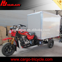 Closed cargo box cotainer 3 wheel motorcycle, cargo motor cycle for sale