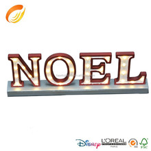 2016 popular item lighting letter NOEL for festival decoration
