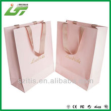 simple luxury die cut shopping paper bag supplier in China