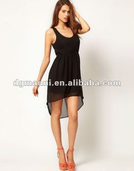 fashion clothing short in front long in back dresses