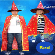 Children Witch Long Cloak Gown 2016 kids wholesale polyester cape costume
