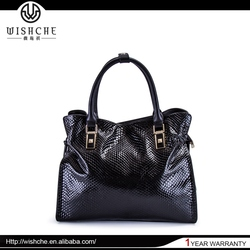 Wishche Fashion Handbag Women Shoulder Bag Girl Brand Soft Genuine Leather Satchel Bags Wholesale Factory Guangzhou Handbag W068