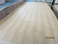 natural teak plywood straight line with dark grains India market
