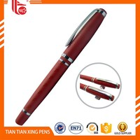 New Design Retractable Metal Roller Pen For Promotion gift promotional cap style