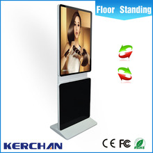 Factory price 42 inch rotating mobile board stand indoor amdroid system advertising lcd screens