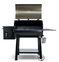 Electirc Barrel Wood Pellet Charcoal Smoker BBQ Barbecue Grills with Porcelain Enameled Cooking Grid